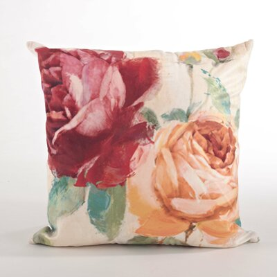 Flower Market Floral Design Down Filled Throw Pillow