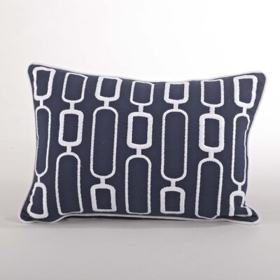 Modernica Stitched Design Down Filled Throw Pillow Color: Navy Blue