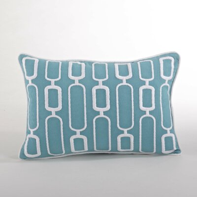 Modernica Stitched Design Down Filled Throw Pillow Color: Aqua