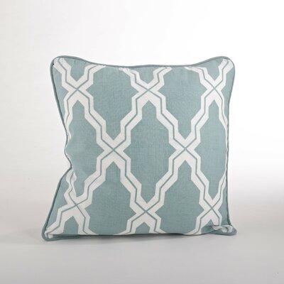 Yasmina Moroccan Design Down Filled Throw Pillow Color: Duck Egg Blue