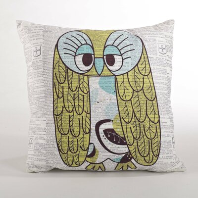 Les Trois Hiboux Design Down Filled Throw Pillow