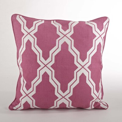 Yasmina Moroccan Design Down Filled Throw Pillow Color: Sorbet