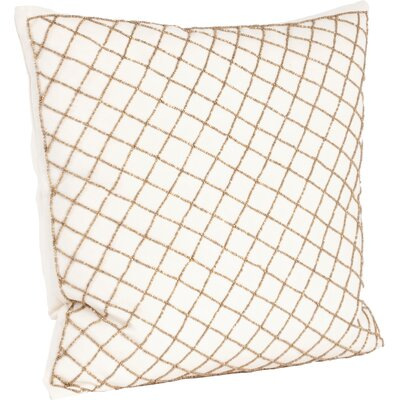 Arlequin Diamond Design Beaded Throw Pillow Color: Bronze