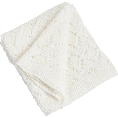 Knitted Design Throw Color: Ivory
