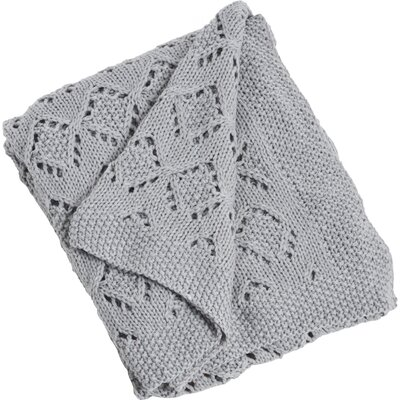 Knitted Design Throw Color: Grey