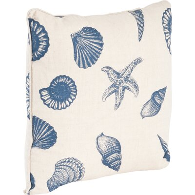Key Largo Nautical Design Throw Pillow Color: Indigo
