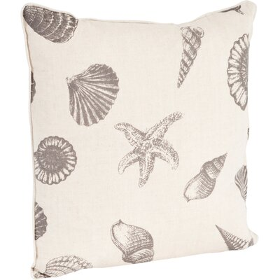 Key Largo Nautical Design Throw Pillow Color: Taupe