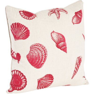 Key Largo Nautical Design Throw Pillow Color: Red