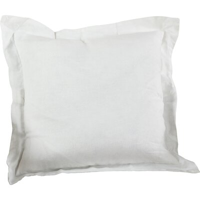 Flanged Linen Throw Pillow Color: Ivory