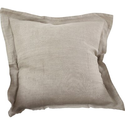 Flanged Linen Throw Pillow Color: Natural
