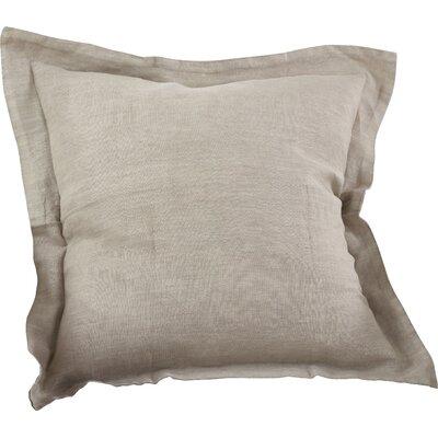 Tabitha Linen Throw Pillow Color: Natural