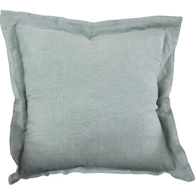 Tabitha Linen Throw Pillow Color: Blue Grey