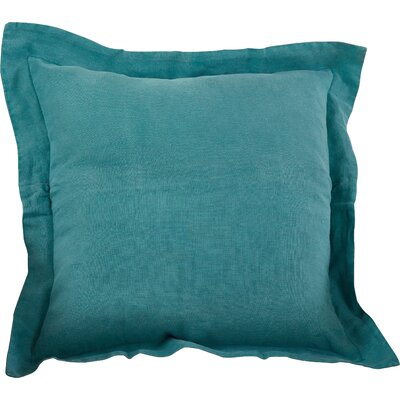 Tabitha Linen Throw Pillow Color: Sea Green
