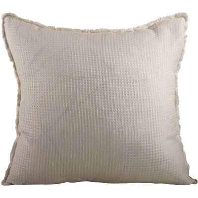Waffle Weave Throw Pillow Color: Ivory