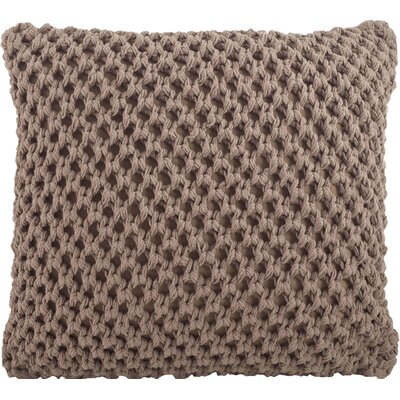 Sheridan Knitted Cotton Throw Pillow Color: Mocha
