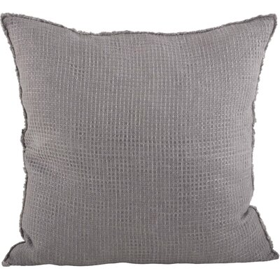 Waffle Weave Throw Pillow Color: Graphite