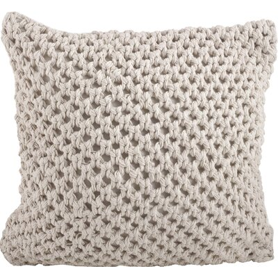 Sheridan Knitted Cotton Throw Pillow Color: Vanilla