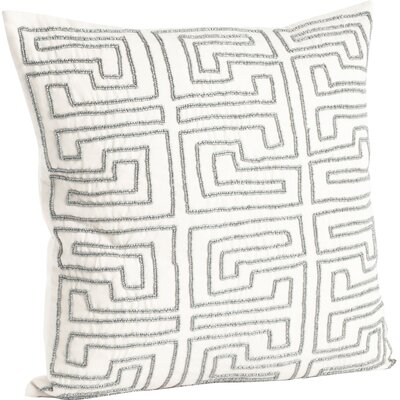 Maize Design Beaded Cotton Throw Pillow