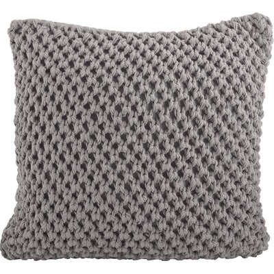 Bannruod Knitted Cotton Throw Pillow Color: Grey