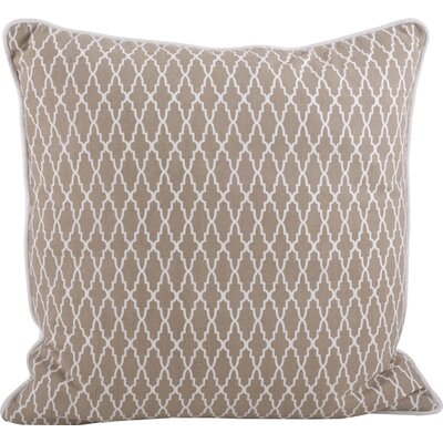 Las Palmas Ikat Cotton Throw Pillow Color: Natural