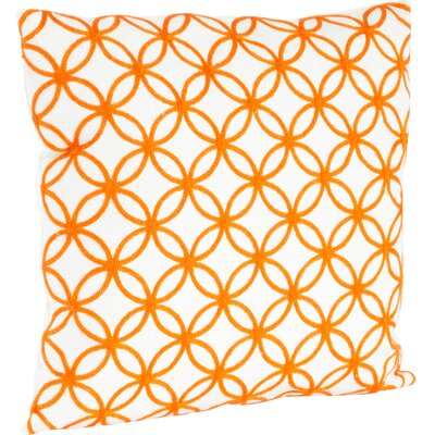 Infinity Design Embroidered Cotton Throw Pillow Color: Persimmon