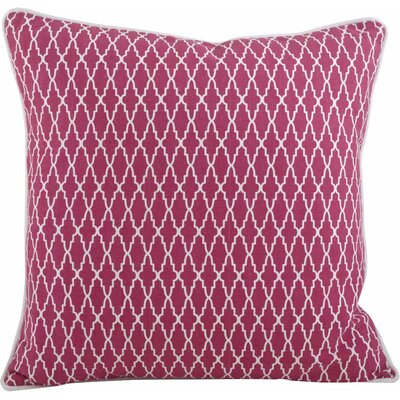 Las Palmas Ikat Cotton Throw Pillow Color: Fuchsia