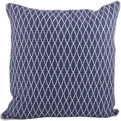 Las Palmas Ikat Cotton Throw Pillow Color: Navy Blue