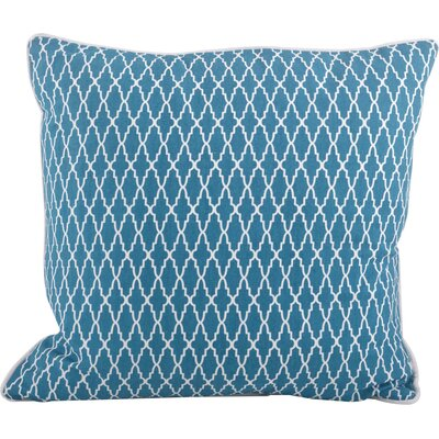 Las Palmas Ikat Cotton Throw Pillow Color: Ocean Blue