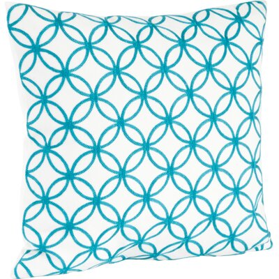 Infinity Design Embroidered Cotton Throw Pillow Color: Turquoise