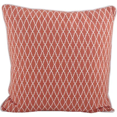 Las Palmas Ikat Cotton Throw Pillow Color: Tangerine