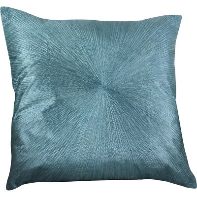 Shimmering Starburst Cotton Throw Pillow Color: Teal
