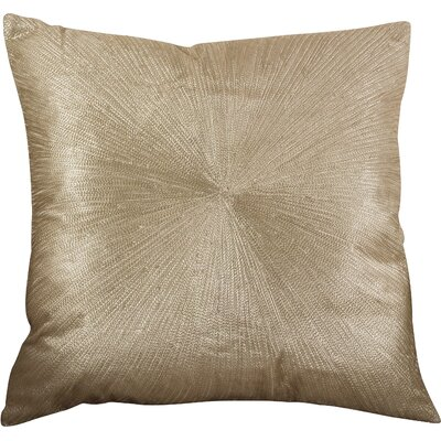 Shimmering Starburst Cotton Throw Pillow Color: Gold