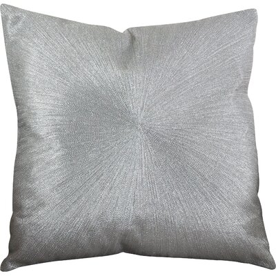 Shimmering Starburst Cotton Throw Pillow Color: Silver