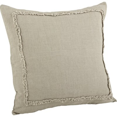 Argelis Ruffled Cotton Throw Pillow Color: Natural