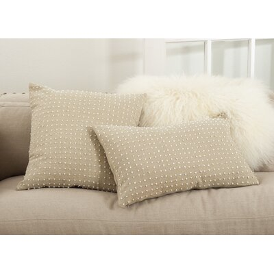 Leilani French Knot Cotton Throw Pillow