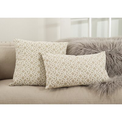 Leah Circle Embroidered Cotton Lumbar Pillow