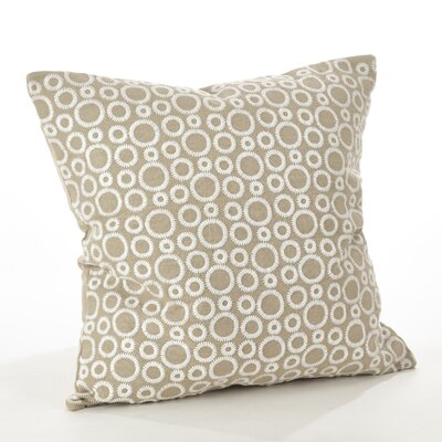 Leah Circle Embroidered Cotton Throw Pillow