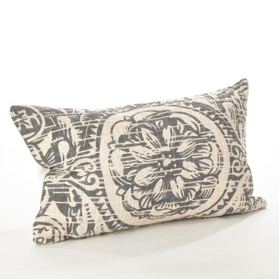 Montpellier Floral Cotton Lumbar Pillow Color: Gray