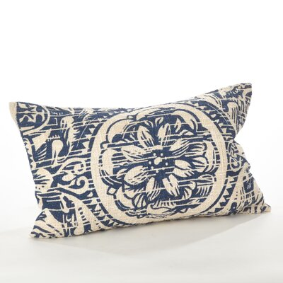 Montpellier Floral Cotton Lumbar Pillow Color: Navy Blue