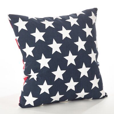 Star Spangled Star and Striped Cotton Throw Pillow Color: Navy Blue