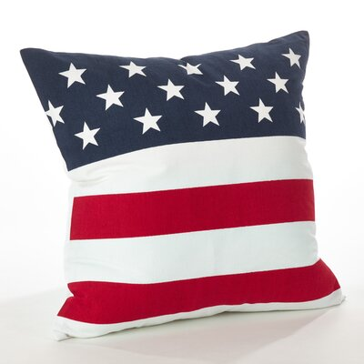 Star Spangled American Flag Cotton Throw Pillow