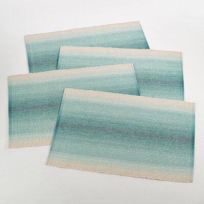 Canaletto Ombre Ribbed Placemat Color: Sea Green 1093.SE1319B