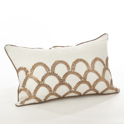 Posh Cotton Lumbar Pillow Color: Ivory