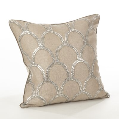 Posh Cotton Throw Pillow Color: Natural