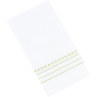 Dot Line Guest Hand Towel Color: Tangerine