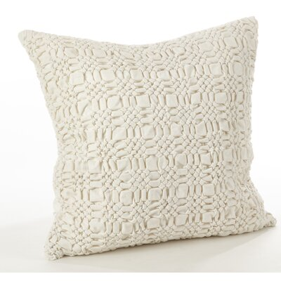 Allisin Smocked Cotton Throw Pillow Color: Ivory