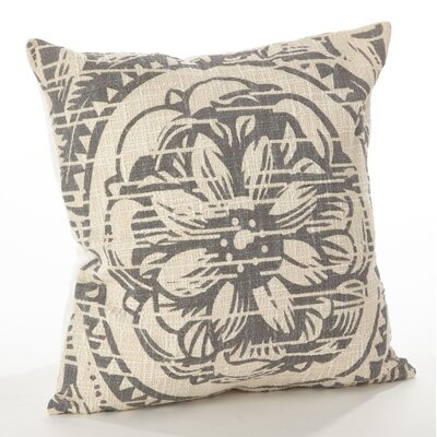 Montpellier Floral Cotton Throw Pillow Color: Gray