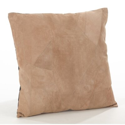 The Corium Leather Throw Pillow Size: 20 x 20