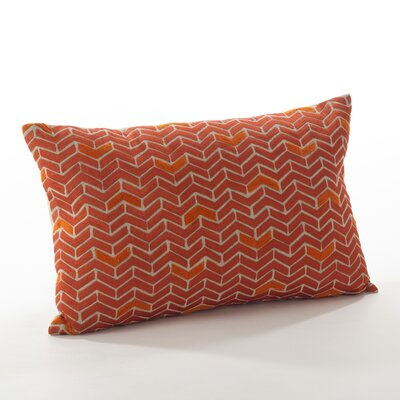 Marcella Cotton Throw Pillow Color: Persimmon