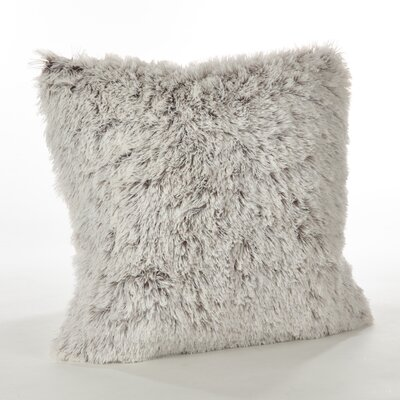 Halterman Solid Faux Fur Throw Pillow Color: Coffee